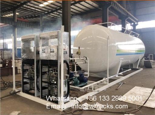 40000 liter lpg gas filling station