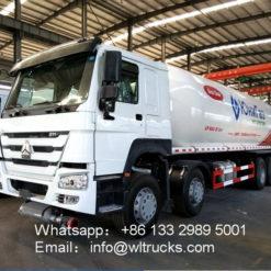 8X4 Sinotruk Howo 35000liter lpg storage tank truck