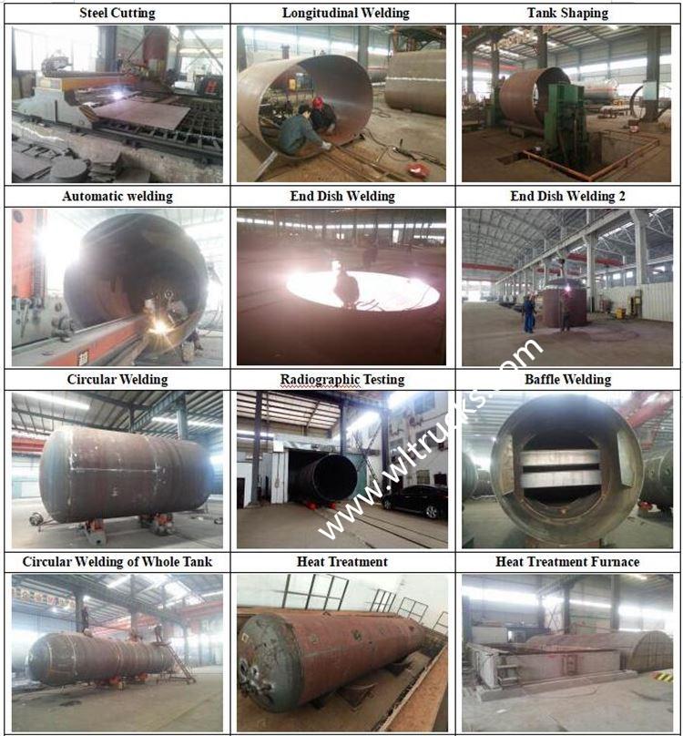 lpg tanker semi trailer Production Process