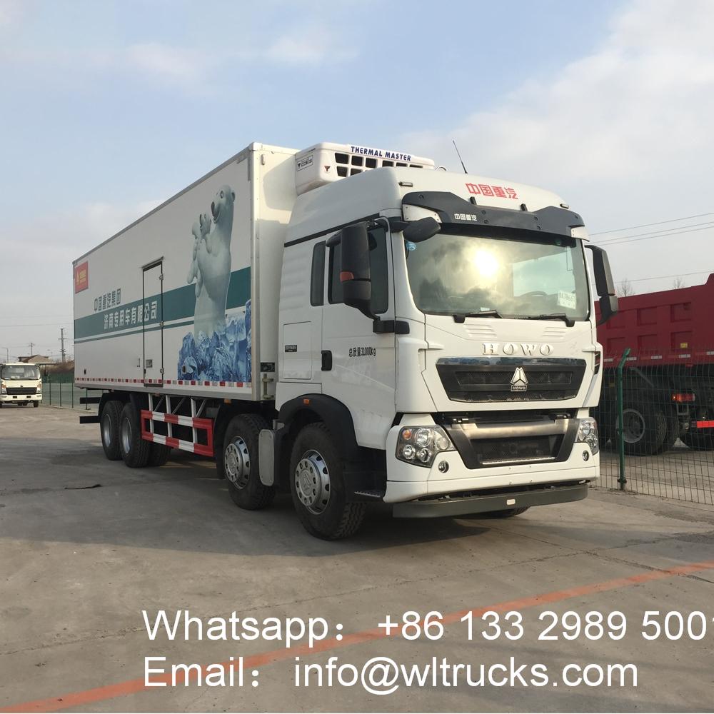 30ft Sinotruk HOWO 25 ton to 30 ton refrigerator freezer truck