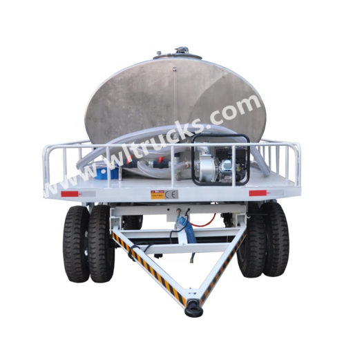 stainless steel small water tank trailer
