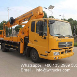 telescopic boom aerial work bucket truck