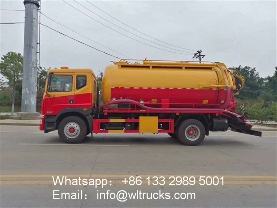 10 ton cleaning sewage suction truck