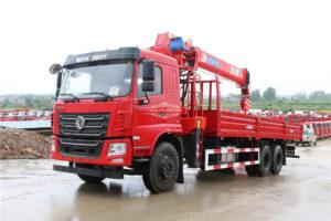 10 wheel 14 ton truck with crane