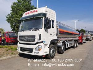 12 wheel 8000gallon Dongfeng Aluminum oil tank truck