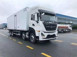 12 wheel Dongfeng Tianlong fridge van box truck
