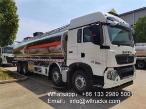 12 wheel Sinotruk Howo Sitrak Aluminum 35000 liter fuel tank truck