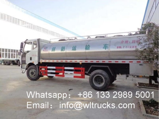 12000L Stainless Steel Milk Tank Truck