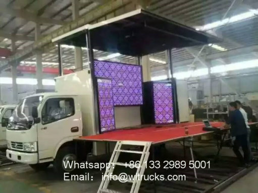 18 square meters stage truck