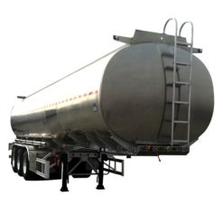 3 Axle stainless steel 45 ton fresh milk transporting trailer