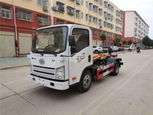 3 cubic meters hook arm garbage truck
