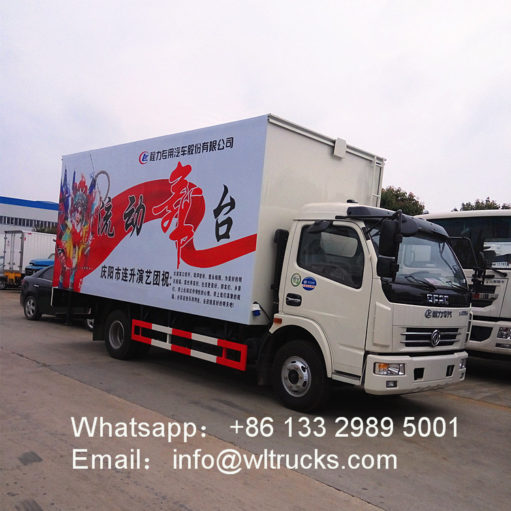 32 square meters mobile stage truck