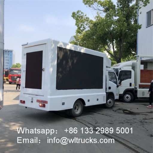 4X2 Yuejin Led billboard truck