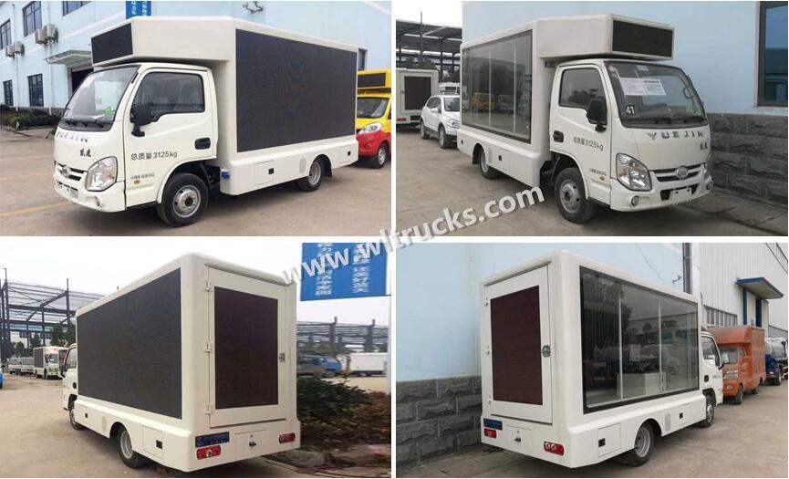 4X2 Yuejin small Led billboard truck