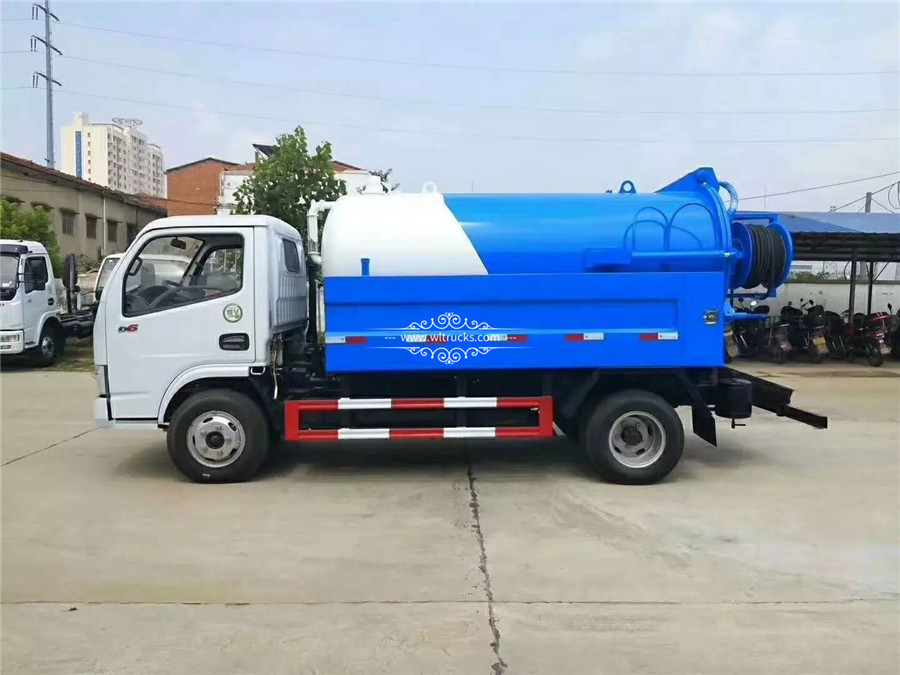 5000 liters Cleaning sewage suction truck