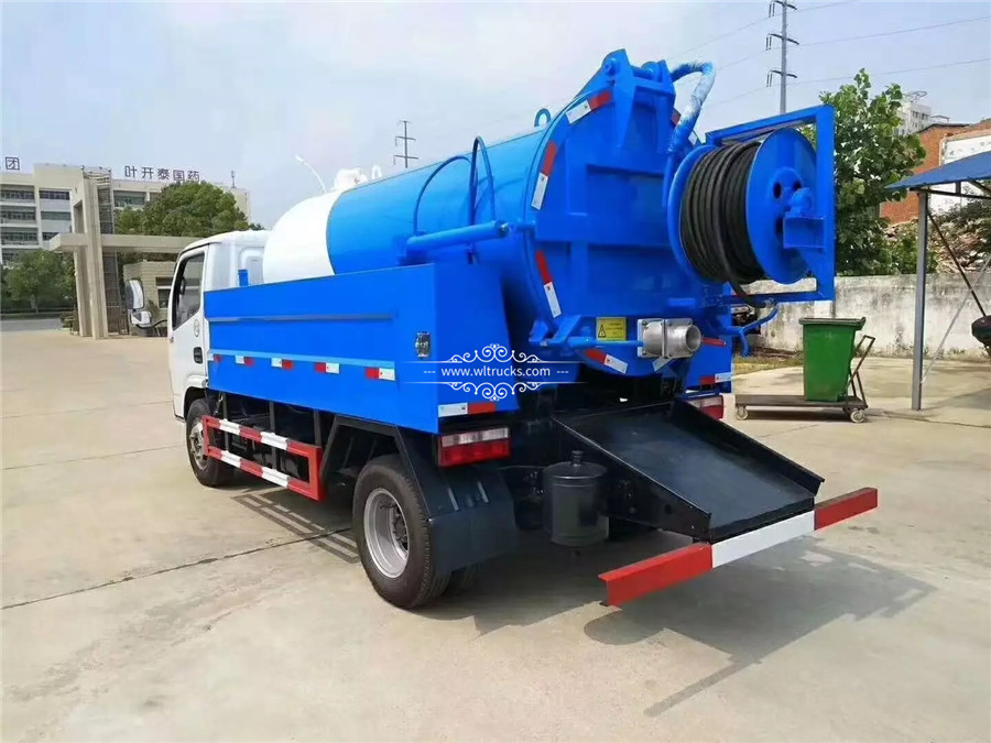 5m3 Cleaning sewage suction truck