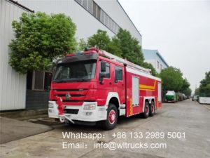 6x4 Howo Elevation jetting fire truck