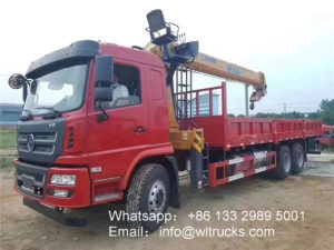 6x4 Shacman Xuande 12 ton Straight Arm Truck mounted Crane