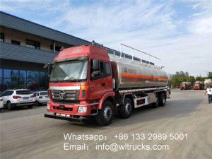 8x4 Foton Auman 32000L Aluminum oil tanker truck