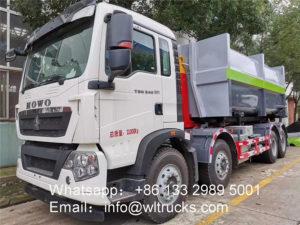8x4 HOWO hook arm garbage truck