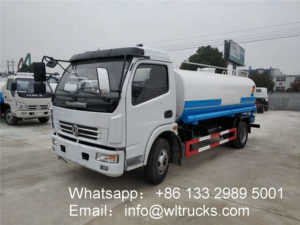 Chinese water bowser truck