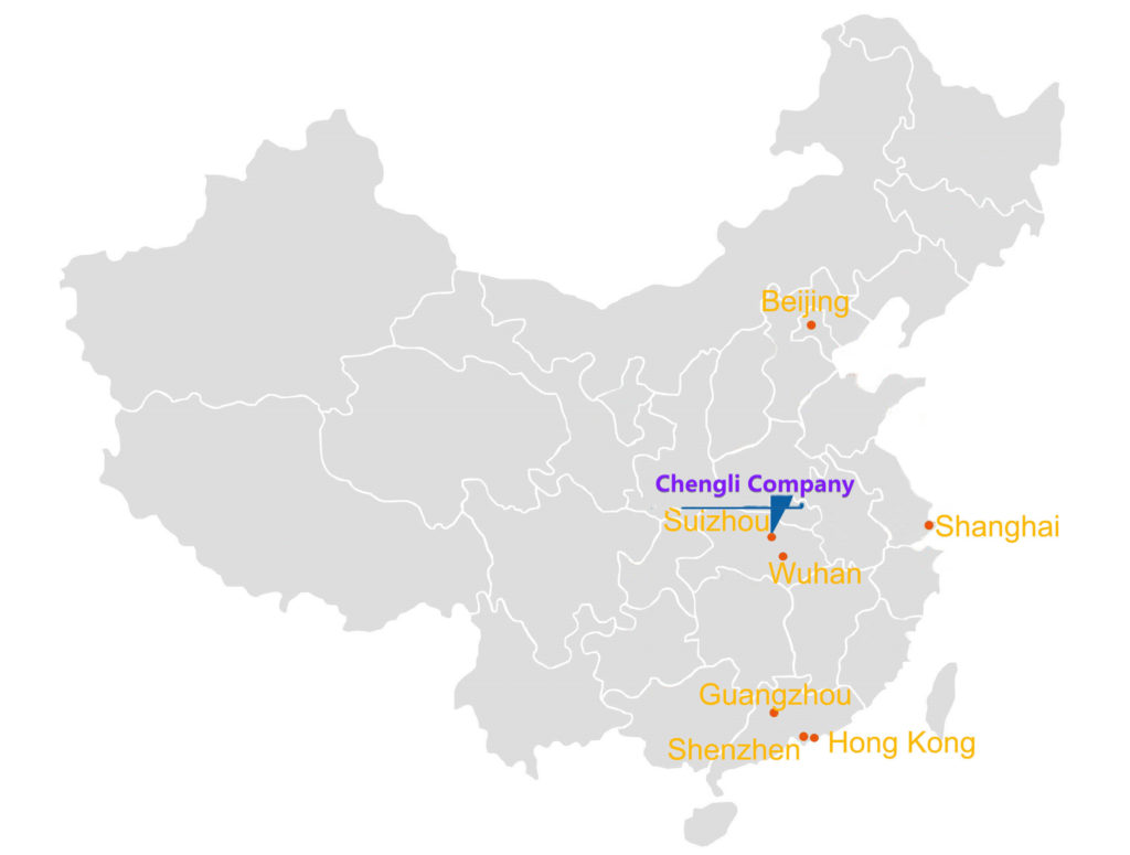 Company's location in China