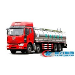 Cooking oil transport tanker truck