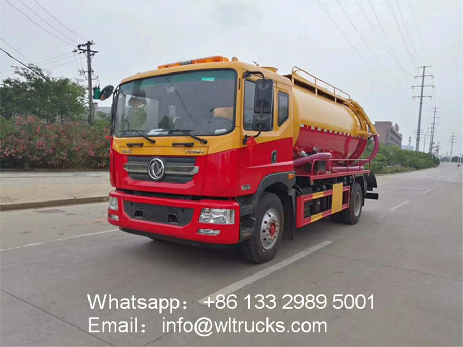 D9 Dolica 10 ton cleaning sewage suction truck