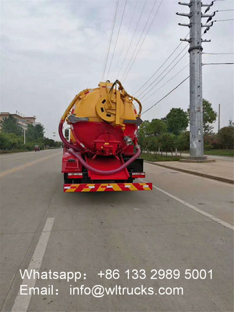 Dongfeng 10 ton cleaning sewage suction truck