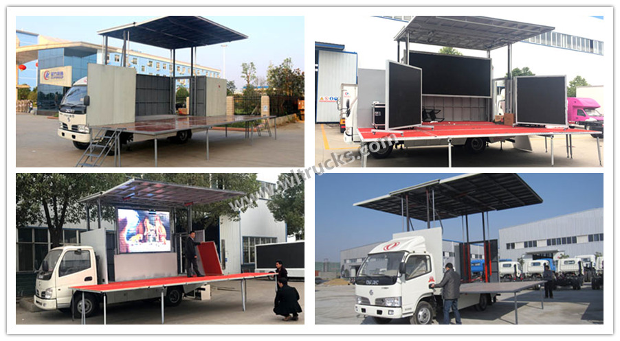 Dongfeng 18-24 square meters mobile stage truck
