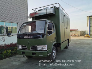 Dongfeng 4 meter custom food trucks with kitchen