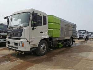 Dongfeng Tianjin 16 ton road washing and sweeping truck