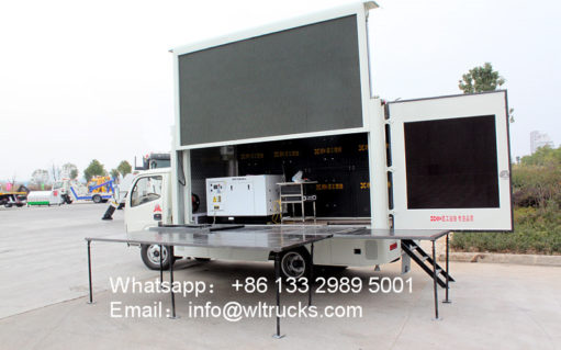 Dongfeng led wall truck