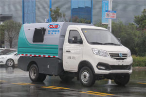 Dongfeng small electric sealed garbage truck