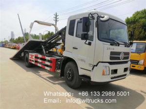 Dongfeng tianjin 8 metric ton wrecker truck