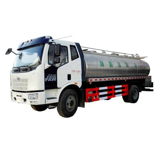 FAW 12000L to 15000L Stainless Steel Milk Tank Truck