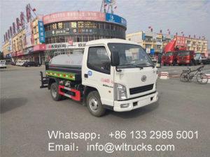 FAW 3 ton water trucks