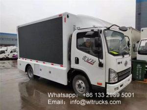 FAW led screen truck
