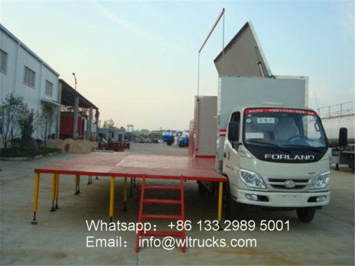 Foton 24 ㎡ mini led stage truck