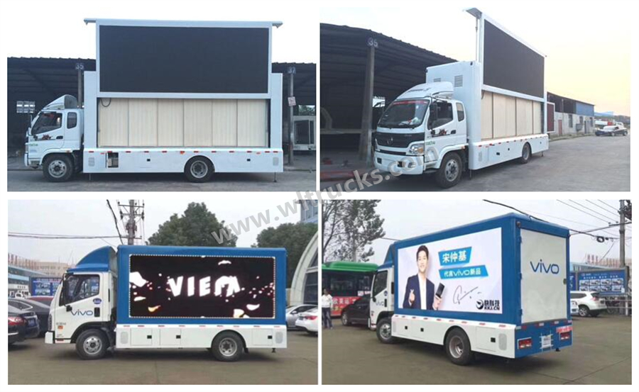 Foton Aumark 11m2 mobile led display truck