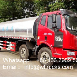 6x2 FAW 20 ton Fresh Milk Tanker Transportation Truck