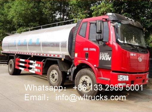 6x2 FAW 20 ton Fresh Milk Tanker Transportation Truck