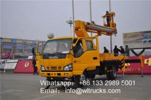 ISUZU 18m telescopic boom aerial work truck