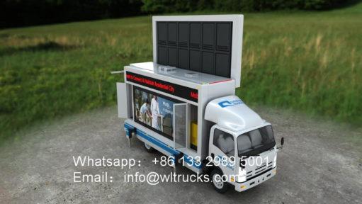 ISUZU led screen truck