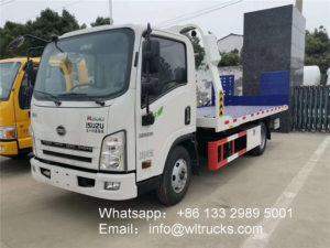 Isuzu 4t flat tow truck