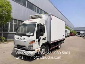 JAC 3 ton Kangling freezer Trucks