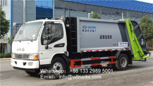 JAC 6m3 to 8m3 compactor garbage truck