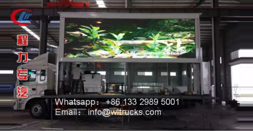 JAC big led wall truck