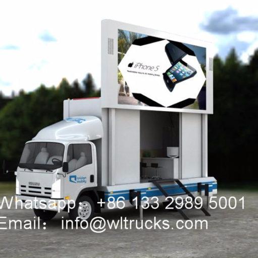 Japan Isuzu led screen trucks