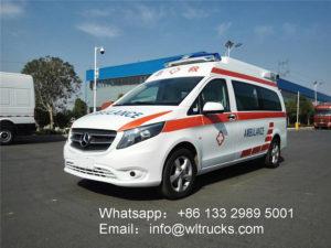 Mercedes Benz ambulance vehicle